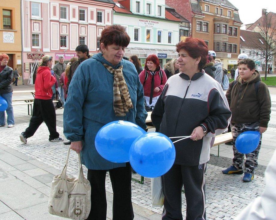 Lidé na Dni s deníkem v Litvínově.
