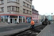 Začaly práce v Mostecké ulici v Litvínově.