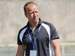 Trenér Baníku Vít Raszyk při zápase v Karviné.