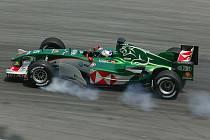 Formule A značky Jaguar, na které jezdil Mark Webber.