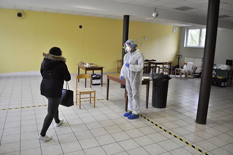 Antigenní testování v Bečově.