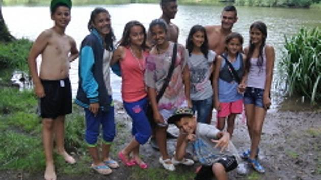 Děti v Novém Záluží.