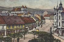Město Litvínov na historické pohlednici