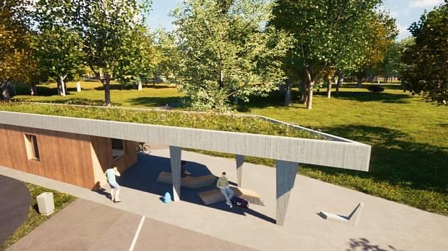 Takhle bude podle studie vypadat domek správce v parku Střed v Mostě.