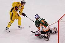 Hokejisté Mostu (v zeleném) letos vybojovali postup do první  ligy.