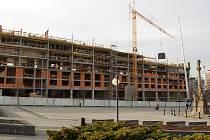 Megacentrum v Mostě. Stav v březnu 2008.