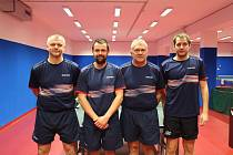 Na týmové fotce zleva: Milan Bořík, Miroslav Bíma, Jan Macháček a Jan Holáň.