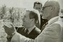 Václav Havel při návštěvě Mostecka