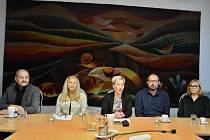Zleva Petr Bucha (Litvínováci), Erika Sedláčková (KSČM), Kamila Bláhová (ANO), Karel Rosenbaum (ANO), Květuše Hellmichová (SNK-ED).
