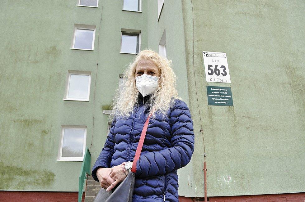 Miroslava Šultysová byla v bloku 563 několik dní bez tepla. Topení nehřálo ve 13 bytech kvůli mimořádné poruše v domácnosti s karanténou.