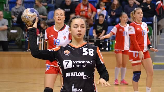 Mostecká házenkářka Barbora Tesařová.