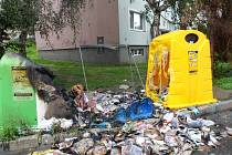 Případy zapálených kontejnerů nejsou v Česku ojedinělé. Ilustrační foto.