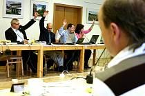 Zasedání litvínovských zastupitelů.