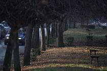 Park u bývalých kasáren v Mostě. I jeho obnovu by mohli žádat Mostečané v rámci participativního rozpočtu v roce 2020