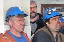 Zaměstnanci dolu Centrum na setkání s ministryní Michaelou Marksovou.