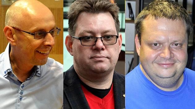 Jan Hašek, Marcel Dlask, Jan Syrový, dnes již bývalí ředitelé městských firem.