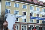 Sídlo SBD Krušnohor v Mostě.