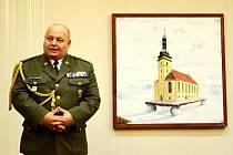 Plukovník Rostislav Domorák hovoří na setkání Českého svazu bojovníků za svobodu v Mostě.