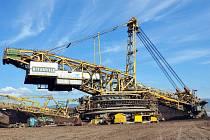 Těžba uhlí mezi Mostem a Teplicemi.