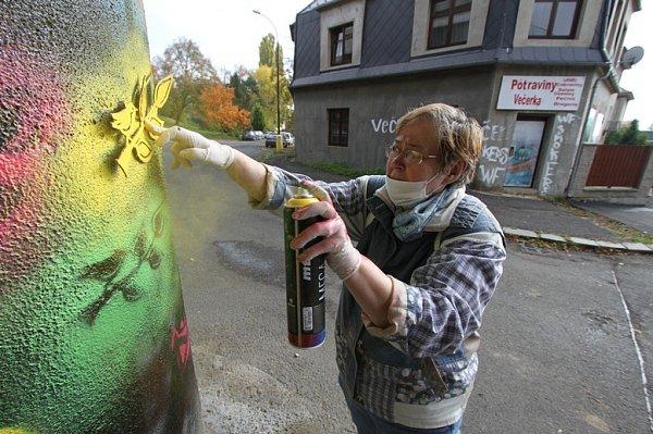 Seniorské graffiti vLitvínově.