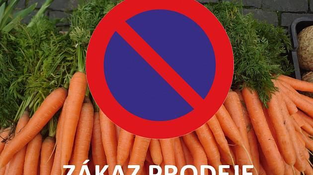 Opět platí zákaz prodeje na Farmářských trzích!