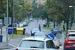 Ulice Zdeňka Štěpánka v Mostě. Tudy mají jezdit tramvaje. Radnice si na to nechá udělat technickou studii proveditelnosti.
