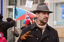 Aktivista David Tesař, předseda Manifest.cz, který stojí za organizováním akce Jízda svobody.
