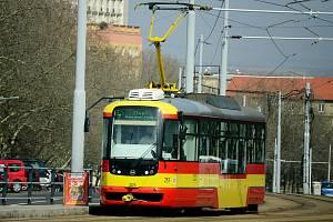 Tramvaj v Mostě. Ilustrační foto