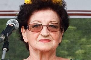 Starostka Hory Svaté Kateřiny Hana Řebíková.
