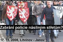 Deník chystá on-line přenos z demonstrace na litvínovském náměstí. Extremisté a Romové avizují, že nepůjde o poklidný průběh. Domlouvají si bojové taktiky.