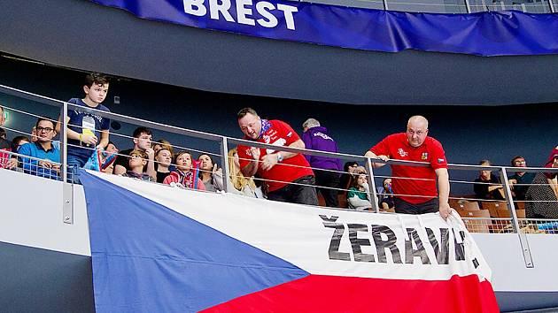 Čeští fanoušci při mistrovství Evropy ve francouzském Brestu.