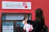 Zkouška nového babyboxu v Nemocnici Most.