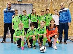 Úspěšný tým Mosteckého fotbalového klubu.