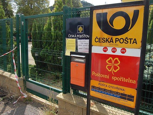 Pošta v Souši je od července zavřená.