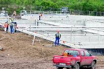 Stavba nové čističky pro Litvínovsko.