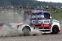 David Vršecký z roudnického týmu Buggyra si dokázal v Mostě dojet pro vítězství.