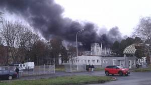 Požár v areálu RICO