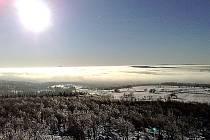Krušné hory na Mostecku. Pohled z Malého Háje.