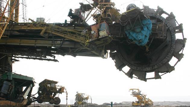 Důl Vršany u Mostu.