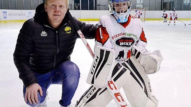 Marek Pinc se synem Oliverem.