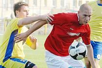 Hráči Souše (v červeném Martin Veselý) porazili 3:1 tým Litoměřic.