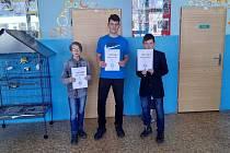 Úspěšní studenti Gymnázia TGM v Litvínově.