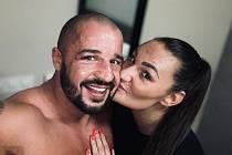 Strongman Petr Pastýřík a jeho přítelkyně a talisman v jedné osobě Renáta Severinová.