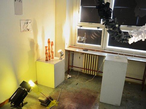 Žákovská galerie Zkušebna S-56 v ZUŠ Moskevská Most, výstava 13leté Adély Karfilátové.