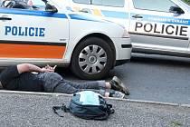 Zákrok policie.