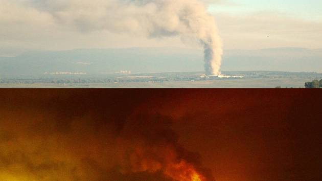 Požár na skládce Celio v pondělí v noci a v úterý ráno.