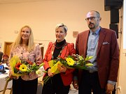 Zleva místostarostka Erika Sedláčková (KSČM), starostka Kamila Bláhová (ANO) a místostarosta Karel Rosenbaum (ANO)
