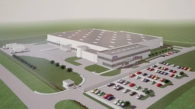 Počítačová vizualizace továrny AFSI.