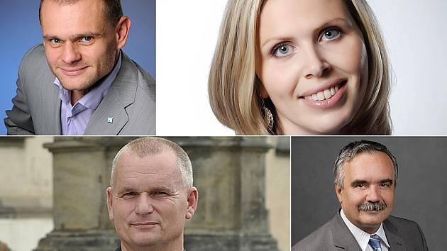 Noví poslanci za Mosteko: David Kádner, Hana Aulická Jírovcová, Bronislav Schwarz a Vlastmil Vozka