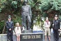 Pieta u pomníku.